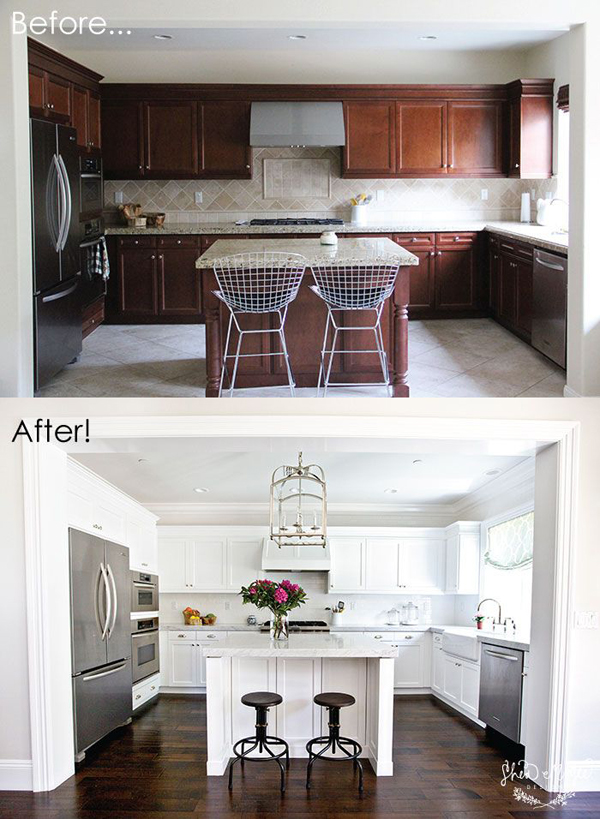 before and after white kitchen cabinets 10 remodelaciones de cocinas depto51 9091