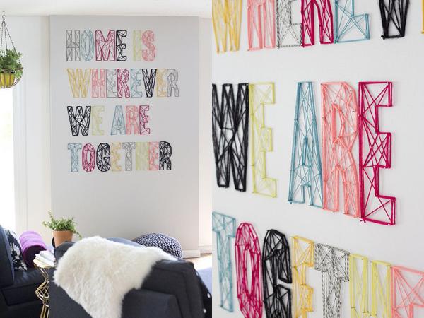 10 ideas para decorar con letras depto51 blog - Ideas para decorar letras de madera ...